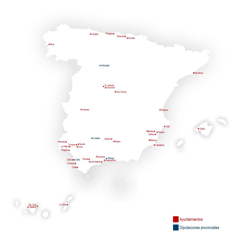 Sistema de colas para ayuntamiento y diputaciones